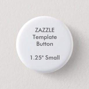"""Custom 1.25"""" Small Round Button Pin Blank Template"""