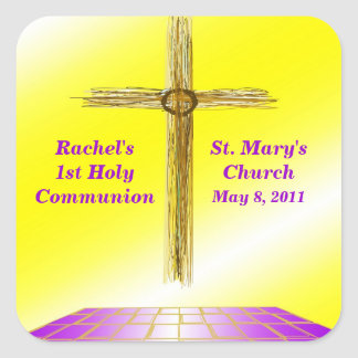 Custom 1st Communion Stickers