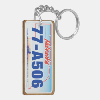 Custom 2006 Nebraska License Plate Keychain #1