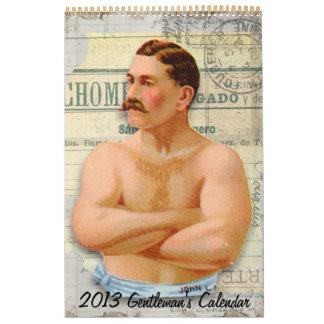 Custom 2013 Victorian Gentleman's Calendar