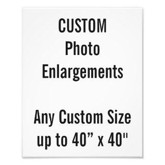 "Custom 240x300mm Photo Enlargement up to 40""x40"""