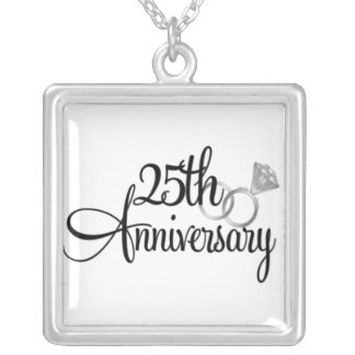 Custom 25 Anniversary Silver Necklace