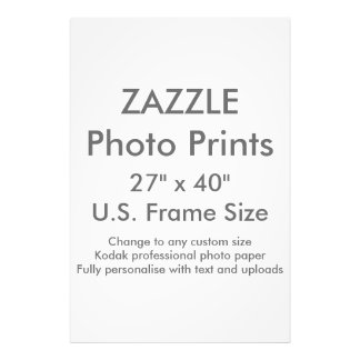 "Custom 27"" x 40"" Photo Print US Frame Size"