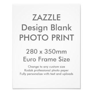 Custom 280x 350mm Photo Print UK Frame Size