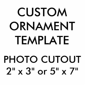"Custom 2"" x 3"" Photo Cutout Christmas Ornament"