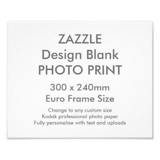Custom 300x 240mm Photo Print UK Frame Size