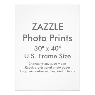 "Custom 30"" x 40"" Photo Print  US Frame Size"