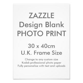Custom 30 x 40cm Photo Print  UK Frame Size