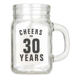 Custom 30th Birthday party mason jar mug gift