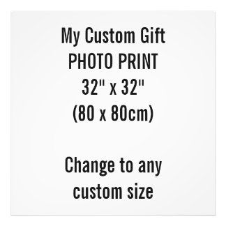 "Custom 32"" x 32"" Photo Print Template"