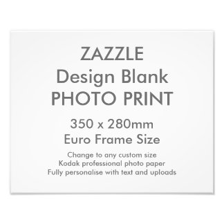 Custom 350 x 280 mm Photo Print UK Frame Size