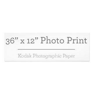 Custom 36 x 12 Photo Print