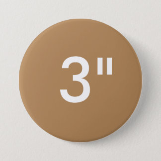 "Custom 3"" Inch Large Round Button Blank Template"