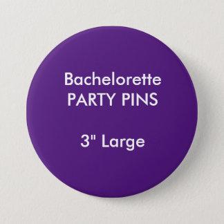 Custom 3quot Large Bachelorette Party Pin PURPLE