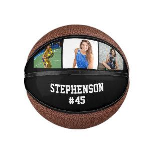 Custom 3-Photo Basketball Ball