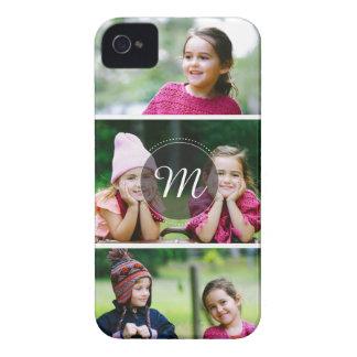 Custom 3 Photo iPhone 4 Case