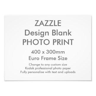 Custom 400x 300mm Photo Print UK Frame Size