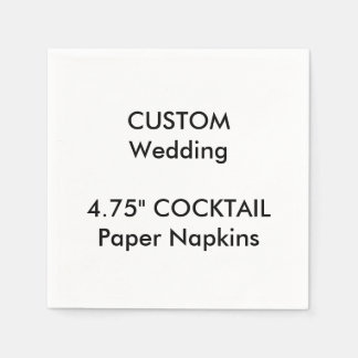 "Custom 4.75"" COCKTAIL Disposable Paper Napkins"