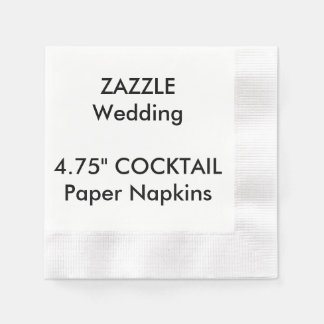 "Custom 4.75"" COCKTAIL Disposable Paper Napkins Disposable Napkin"