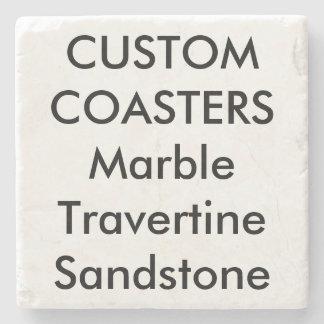 "Custom 4"" Real Stone Marble Coasters (Cork Backed)"