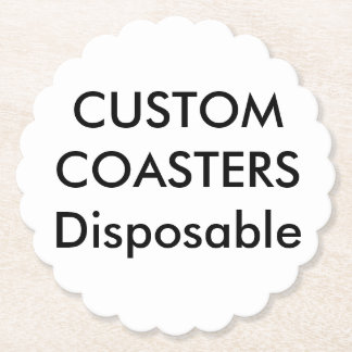 """Custom 4"""" Scalloped Disposable Party Coasters"""
