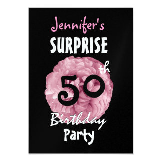 Custom 50th SURPRISE Birthday Party Invitation
