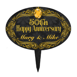 Custom 50th Wedding Anniversary Cake Topper