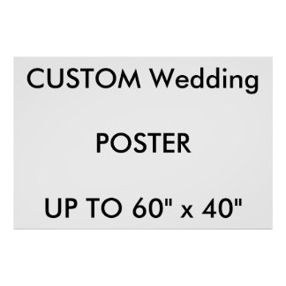 "Custom 60"" x 40"" Poster MATTE Landscape"