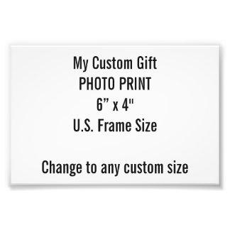 "Custom 6"" x 4"" Photo Print (US Frame Size)"