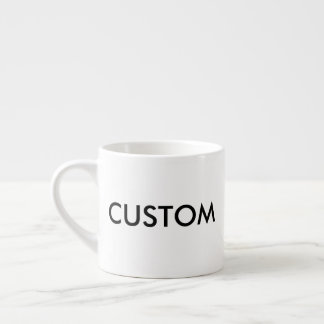 Custom 6oz White Espresso Coffee Cup