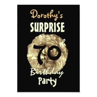 Custom 70th SURPRISE Birthday Party W842 Card