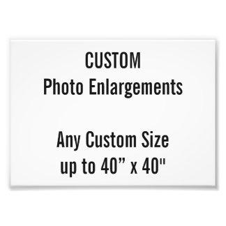 "Custom 7""x5"" Photo Enlargement up to 40""x40"""