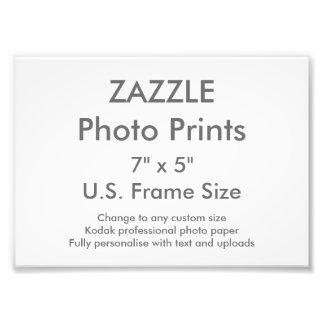 "Custom 7"" x 5"" Photo Print (US Frame Size)"