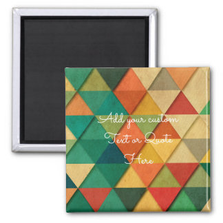 Custom Abstract 'Add your own Text / Quote' Magnet