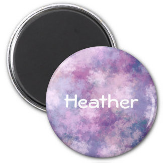 Custom Abstract Blue, Lilac, Pink 6 Cm Round Magnet