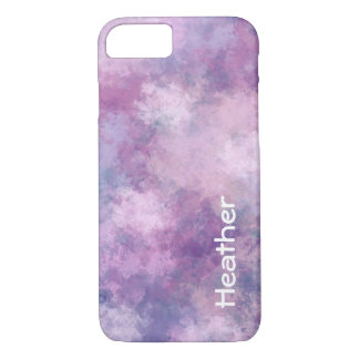 Custom Abstract Blue, Lilac, Pink iPhone 7 Case