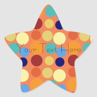 Custom Abstract Bright Polka Dots Star Sticker