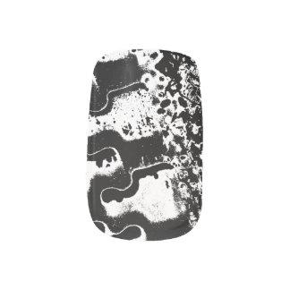 Custom abstract design nails minx nail art