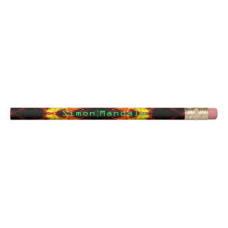 Custom Abstract Design Pencil