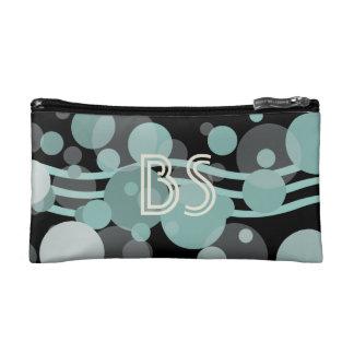 Custom Abstract Nautical Aqua Add Initials Bag