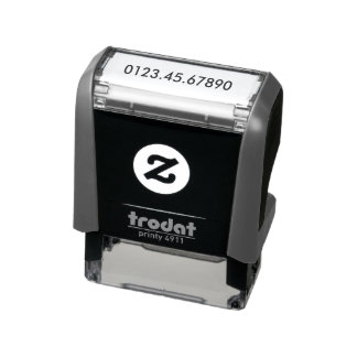 Custom Account Number Self-inking Stamp