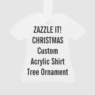 Custom Acrylic SHIRT Christmas Tree Ornament Blank