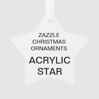 Custom Acrylic STAR Christmas Tree Ornament