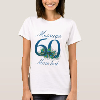 Custom add name 60th birthday t-shirt