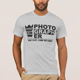 Custom add text photography T-Shirt