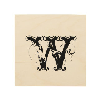 Custom add your initial weddin personalize monogra wood canvases