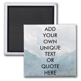 Custom 'ADD YOUR OWN TEXT' Chilled Natural Look Magnet