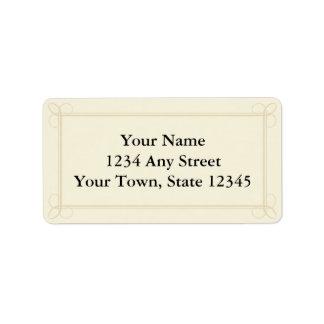 Custom Address Labels -Cream, Ecru or Beige