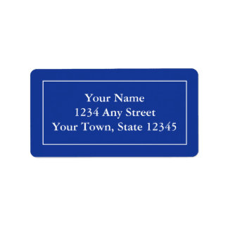 Custom Address Labels - Dark Navy Blue