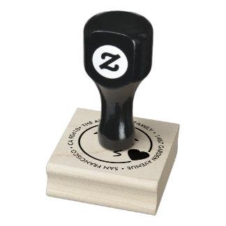 Custom Address stamp with kiss emoji